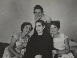 (clockwise from top) Mark, Cristina, Marta, Celestina c.1950's