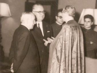 Kapidan Gjon Marka Gjoni with Professor Ernest Koliqi, Rome c.1965