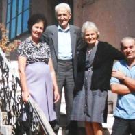 (left) Cristina, Deda, Bardha, Gjon